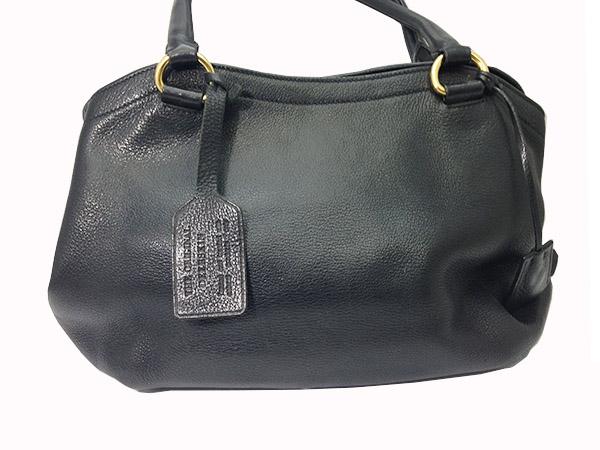 PRADA Prada tote bag BR4387 Black Black deer leather leather 15-8335L