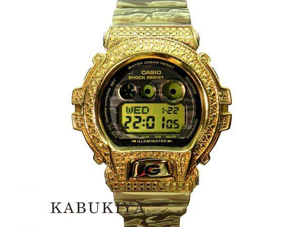 CASIO カシオ G-SHOCK ジーショック カスタム GDX6900TC-5 ゴールド×カモフラージュ 金 迷彩 ラバー デジタル 腕時計 メンズ 人気ブランド【中古】16-14151RS