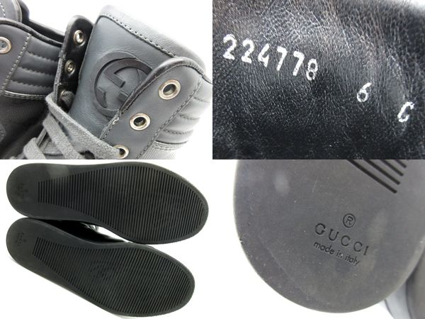 bb2af9e9a ... GUCCI Gucci GG インプリメハイカットスニーカー 224778 size 6 26 gray shoes shoes PVC  men popularity ...