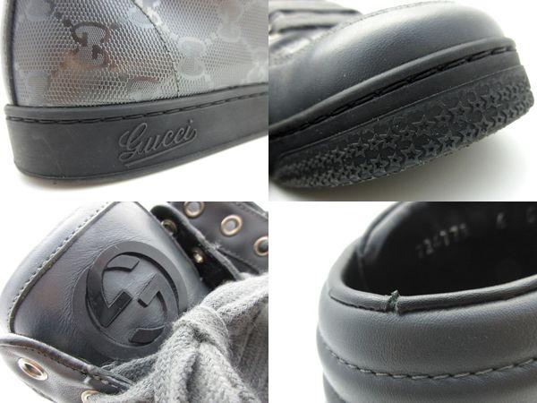 7f371b641 ... GUCCI Gucci GG インプリメハイカットスニーカー 224778 size 6 26 gray shoes shoes PVC  men popularity