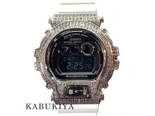 CASIO カシオ G-SHOCK ジーショック カスタム GD-X6900FB-7JF ホワイト×シルバー 白 ラバー デジタル 腕時計 メンズ 人気ブランド【中古】xx19-40732RS