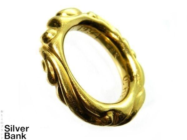 CHROME HEARTS クロムハーツ スクロールバンド リング 22K ゴールド 金 8.5号 指輪 メンズ・レディース 兼用 人気ブランド【中古】16-4723RS