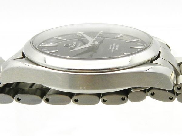 OMEGA オメガ シーマスター アクアテラ 型番2503 50 自動巻き 手巻き アナログ ブラック 黒 シルバー 文字盤 裏スケ フォーマル カジュアル腕時計メンズ 人気ブランド19 30889ShthsQrdC