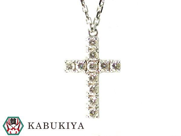 Cartier カルティエ シンボルネックレス 型番B7221700 アクセサリー ジュエリー 十字架 クロス K18WG ホワイト ゴールド ダイヤ レディース 人気ブランド【中古】20-3201Sh