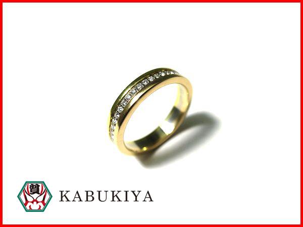 【中古】Cartier カルティエB4052948 ウエディングリングK18 スリーゴールド ダイヤモンド8号 #48 指輪15-10873TM