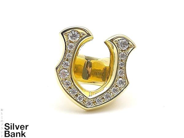LOADED ローデッド リング 馬蹄型 8.5号 K18/ジルコニアゴールド メンズ 指輪 人気ブランド【中古】 18-8065CC