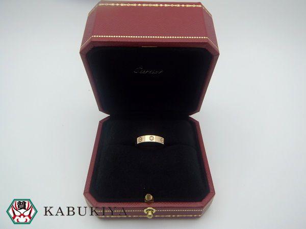 Cartier カルティエ ミニラブリング 1PD 750PG ピンクゴールド レディース 指輪 k18 ダイヤモンド ワンポイント人気ブランド【中古】18-29410RS