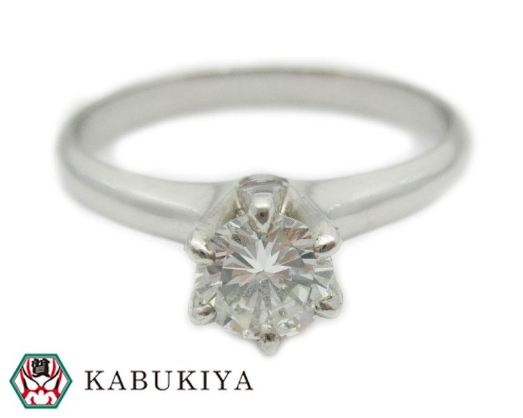 リング 指輪 0.50ct Pt900 ダイヤモンドプラチナメンズ・レディース 人気ブランド【中古】xx19-3438LI