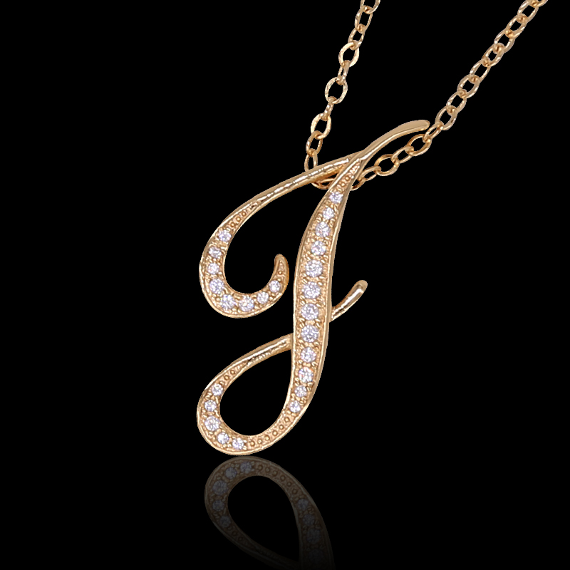 Popular ♪ a necklace «J» silver Bank original pendant charm top chain K18  coated accessories gold Pink White GD PG WG popular products initials  alphabet ... 8b8b1b0d9a99
