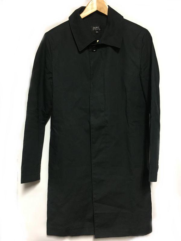 APC アーペーセー マック コート 黒 ブラック系(モスグリーンに近い) メンズ 人気ブランド【中古】 17-35001KJ