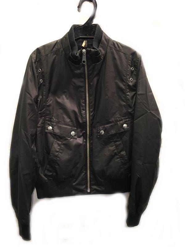 Dior Homme ディオール オム ジップアップ ナイロン ジャケット 黒 ブラック系 メンズ 人気ブランド【中古】 70-808KJ