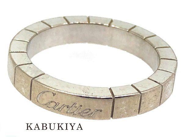 Cartier カルティエラニエール リング 指輪 サイズ48 アクセサリー WG ホワイトゴールド メンズ・レディース 人気ブランド【中古】xx18-34198YU
