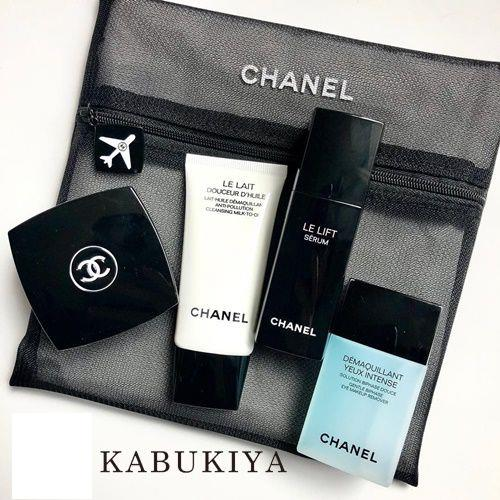 official photos 128c1 5eb2e CHANEL シャネル リミテッドエディション LE LIFT LE VOYAGE Smoothing And Firming Travel  Ritual コフレ セット ポーチ付 セラム クリーム リムーバー クレンジング ル リフト ル ヴォヤージュ コスメ 化粧品 ...