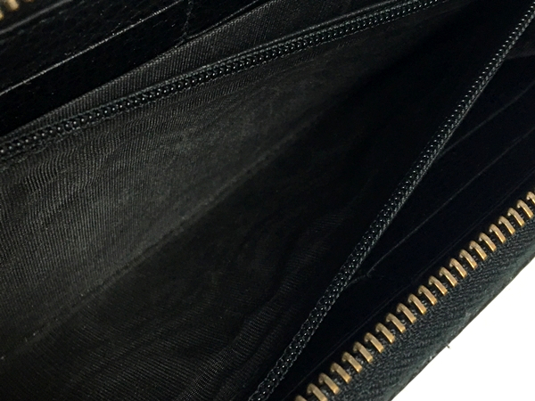 14440f89e132ec ... Leather zip up wallet 474584 CAONX 8346 マーモント long wallet wallet  leather black men popularity brand