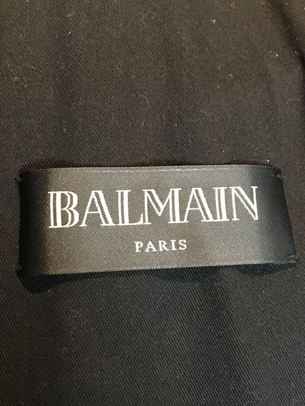 BALMAIN HOMME バルマン オム15SS コーティングデニムダブルライダースジャケット ブルゾンメンズ 人気ブランド18 19958AOxBWdoCer