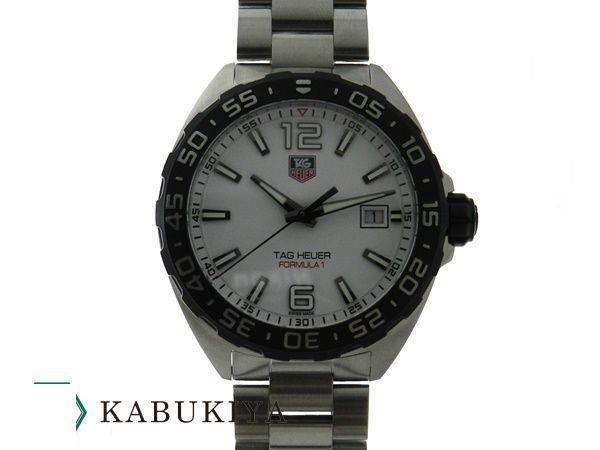 TAGHEUER タグホイヤー フォーミュラ1 WAZ1111 SS(ステンレス) ホワイト 白文字盤 クオーツ Oz 腕時計 メンズ 人気ブランド【中古】20-12000RS