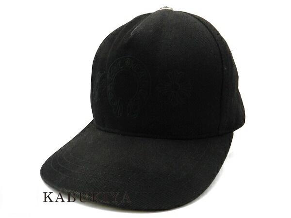 Chrome Hearts クロムハーツ クロム帽子 キャップ サイズ 46 デニム トラッカー ホースシュー ブラック 黒 シルバー バックロゴ 刺繍メンズ 人気ブランド【中古】18037968Sh