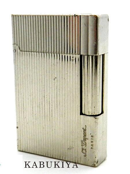 S.T.Dupont エス・テー・デュポンギャツビー  シルバー 銀メンズ・レディース ユニセックス ガスライター グリーン 緑 人気ブランド【中古】20-4406ok