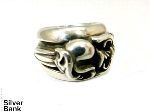 Chrome Hearts クロムハーツ ダガーハートリング SV925 シルバー 指輪 約10号 メンズ・レディース 人気ブランド【中古】15-4654my