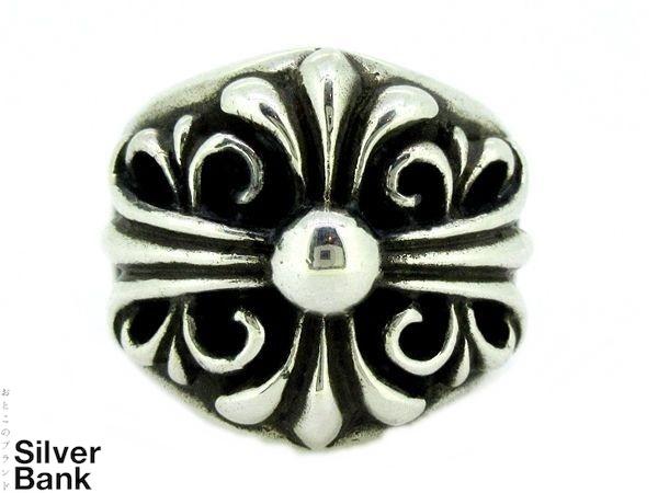 CHROME HEARTS クロムハーツ キーパーリング 19号 #59 SV925 シルバー CH 指輪 メンズ アクセサリー 人気ブランド【中古】xx17-21462Mo