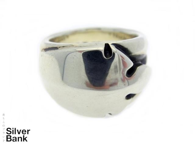 Chrome Hearts クロムハーツ フレアニーシングルリング SV925 シルバー 約14.5号 指輪 メンズ・レディース 人気ブランド【中古】16-11617my