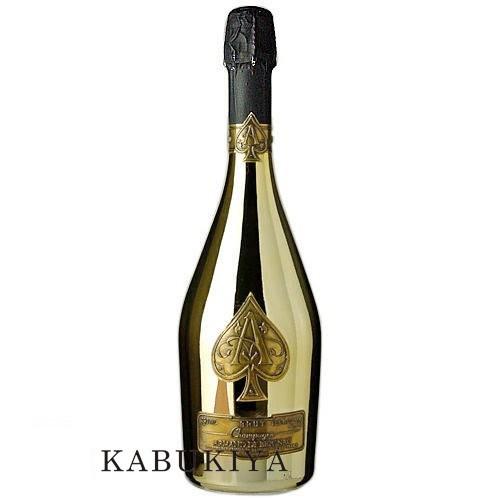アルマンドブリニャック ブリュット ゴールド 750ml 箱なし 白 シャンパン フランス シャンパーニュ スパークリングワイン アルマン・ド・ブリニャック 辛口 Armand de Brignac 酒類【中古】ADB-GMT