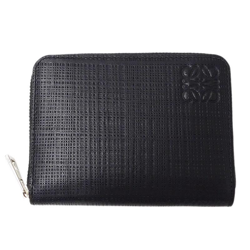 ◆ロエベ LOEWE アナグラム コインケース 小銭入れ 財布 PVC ブラック 【中古】