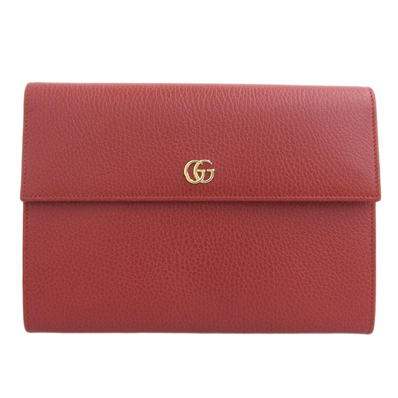 ◆ 良品 グッチ Gucci プチマーモント クラッチバッグ レザー レッド 赤 576425 【中古】