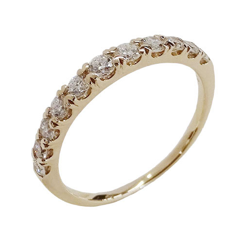 ◆貴金属 ジュエリー ダイヤモンド H&C ハート&キューピット リング 指輪 D0.50 K18PG 約12号 約1.9g 【中古】