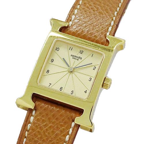 ◆エルメス HERMES 時計 HH1.201 Hウォッチ ゴールド クオーツ レディース □D 【中古】