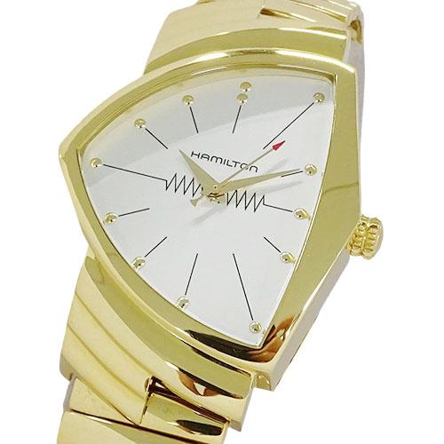 ◆ハミルトン HAMILTON 時計 H243010 ベンチュラ 60周年記念 クオーツ ゴールド メンズ 【中古】
