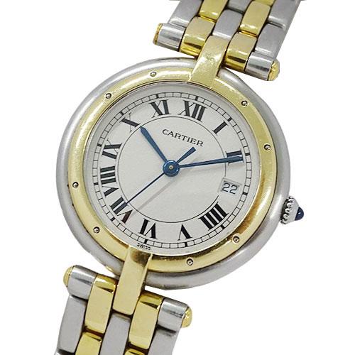 ◆カルティエ Cartier 時計 パンテールラウンド ヴァンドーム 2ロウ クオーツ SS YG レディース 【中古】