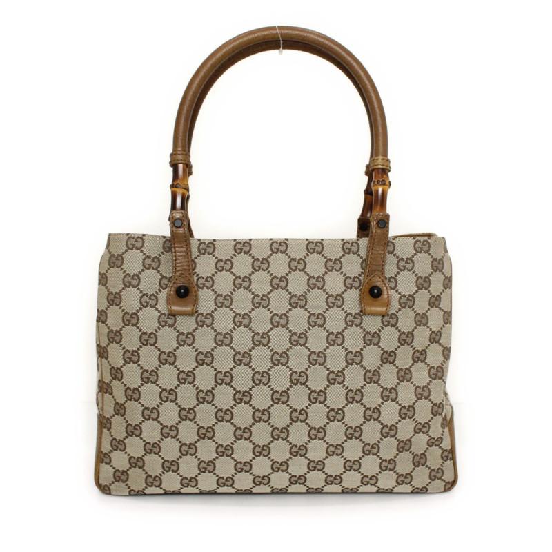78fcd18fbcff BrandCity: Gucci GG canvas bamboo tote bag 112526 | Rakuten Global ...