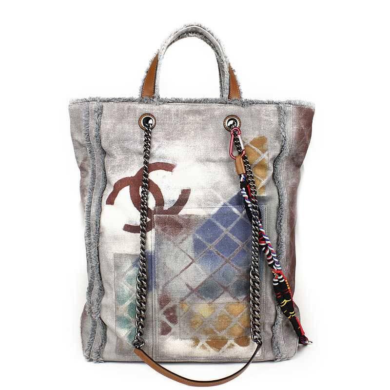 4ceb7a4597de BrandCity: Chanel graffiti line bricolage tote bag A92317 | Rakuten ...