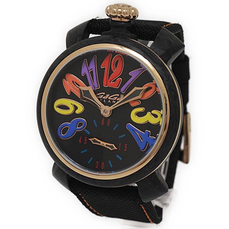 ガガミラノ マヌアーレ 48MM カーボン 腕時計 手巻き 世界限定300本 PGP 6061.01S【美品】