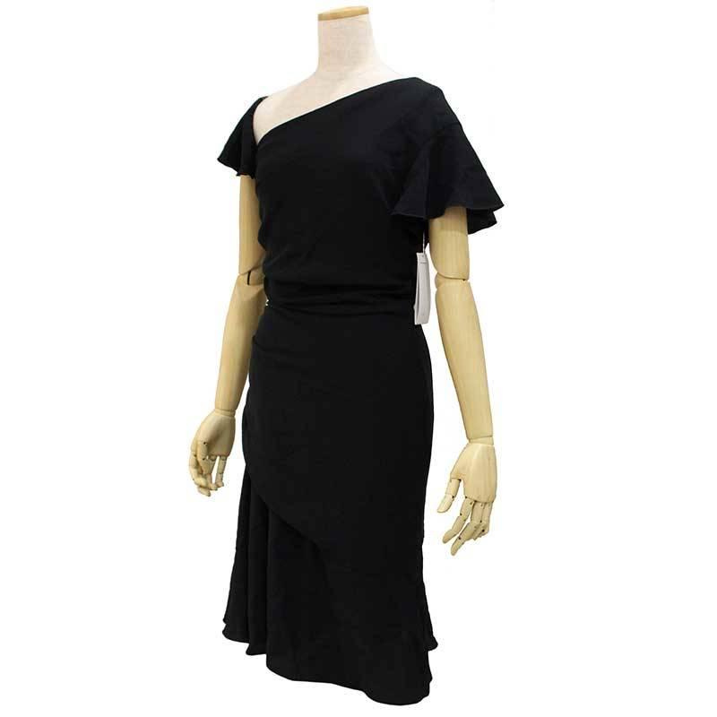 ヴァレンティノ シルク ドレス 8 ブラック 【未使用 新品同様】