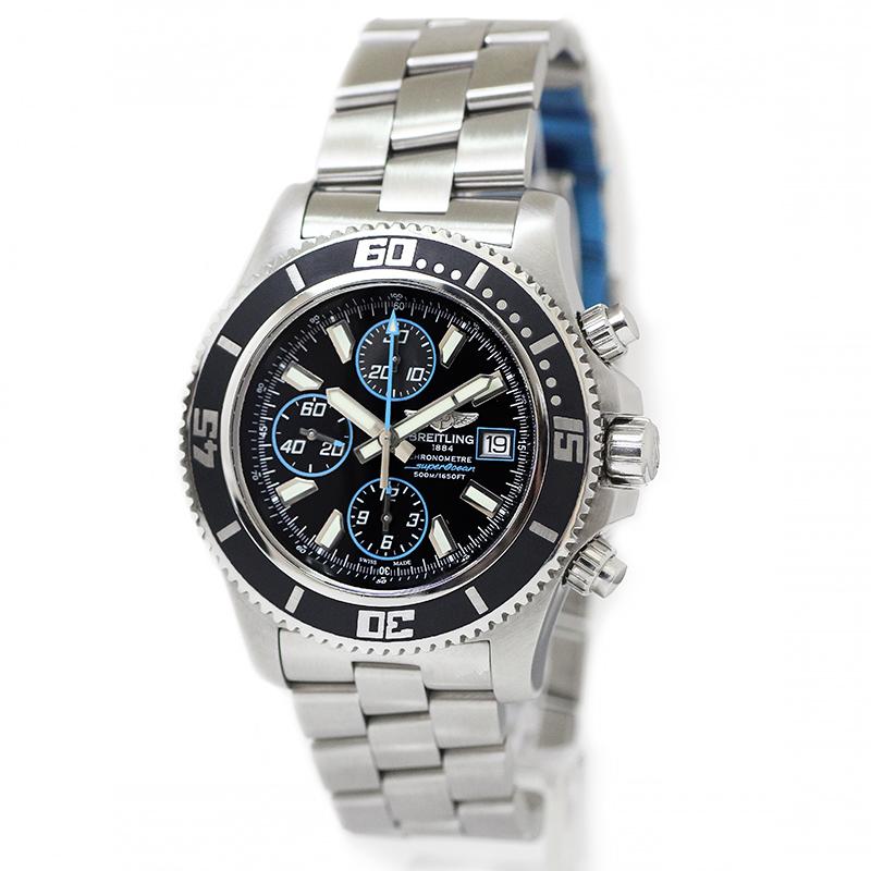 ブライトリング スーパーオーシャン クロノグラフ メンズ 腕時計 A1334102-BA83 【美品】