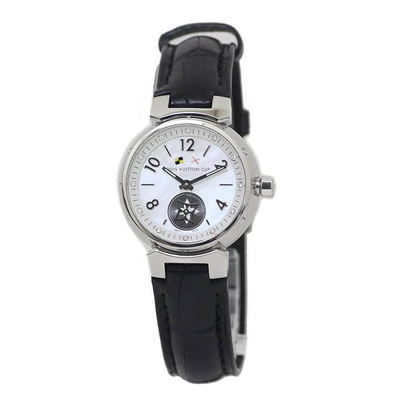 ルイ・ヴィトン タンブール ラブリーカップ PM レディース 腕時計 Q12M0 12P 新品替えベルト付 【美品】