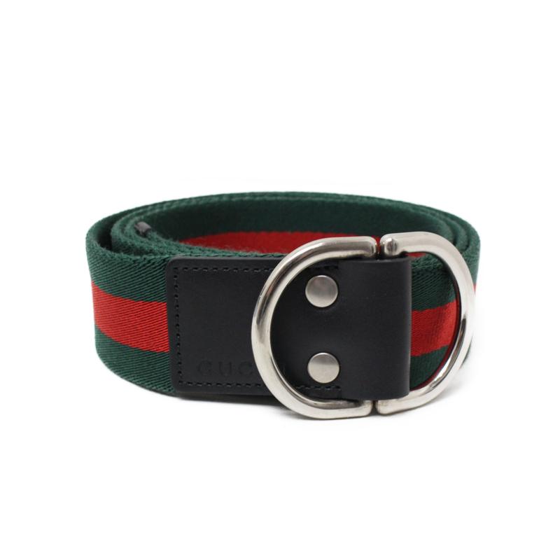 80715982216 BrandCity  Gucci Web belt D ring closure 451136