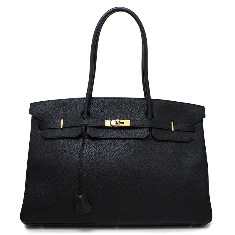 BrandCity  Hermes Birkin 45 long shoulder bag fjord black □ D ... f607fe9a46d51