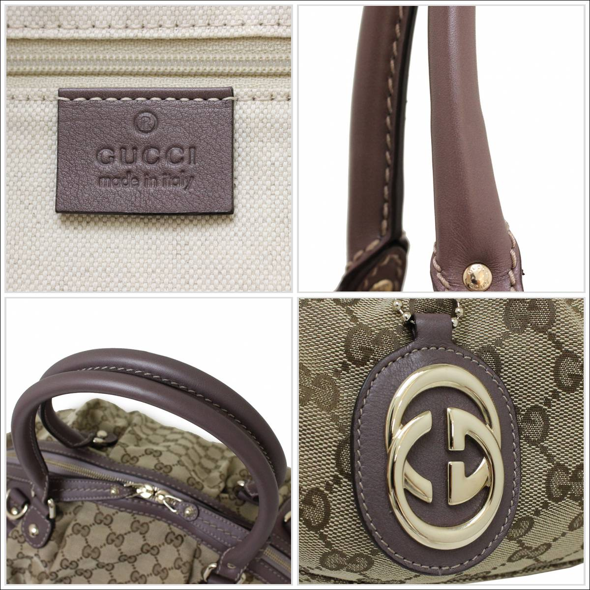 100737e6450a BrandCity: Gucci GG canvas Sioux key 2WAY Boston bag 223974 ...