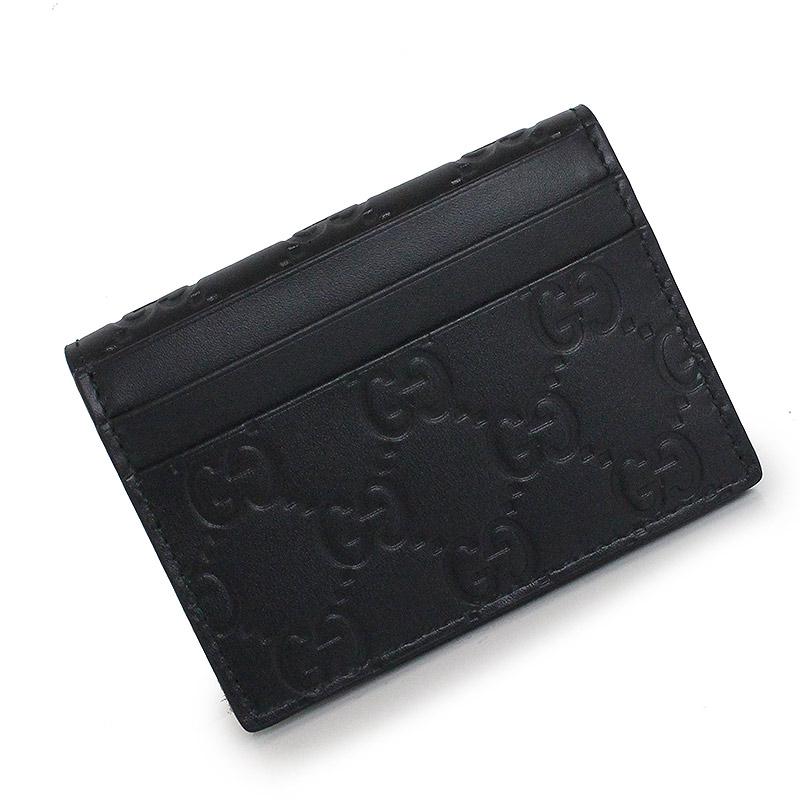 c6439d728ec BrandCity  Gucci Gucci signature card case black 447948