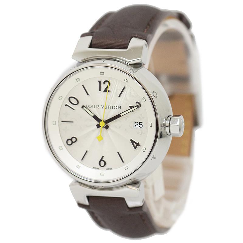 ルイ・ヴィトン タンブール ホログラム MM 腕時計 Q1313 【美品】