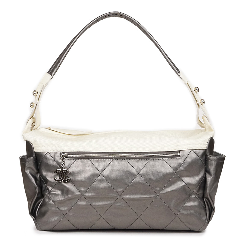 98a14d6bfed4 There is Chanel Paris Biarritz one shoulder bag gray A34206 reason ...