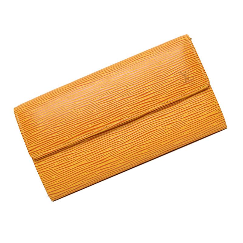 ルイ・ヴィトン エピ ポシェット ポルトモネ クレディ 財布 タッシリイエロー 黄色 M63579【未使用 展示品】
