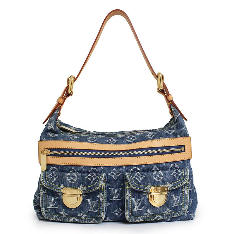 Louis Vuitton Denim Bag >> Brandcity Louis Vuitton Monogram Denim Buggy Pm Shoulder Bag M95049