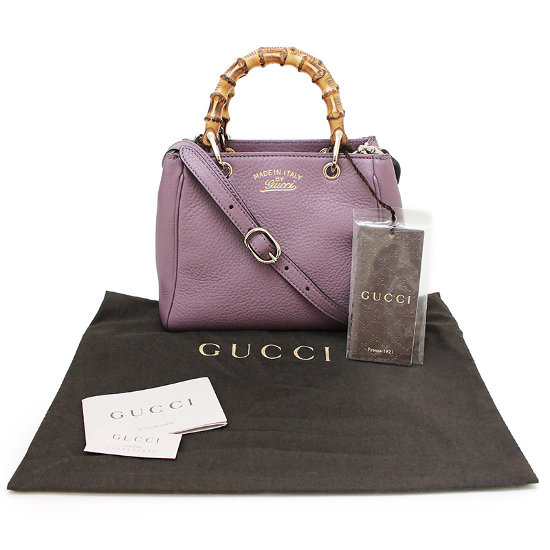cafcd0c91 ... Gucci bamboo shopper mini-steering wheel bag 368823 purple system ...
