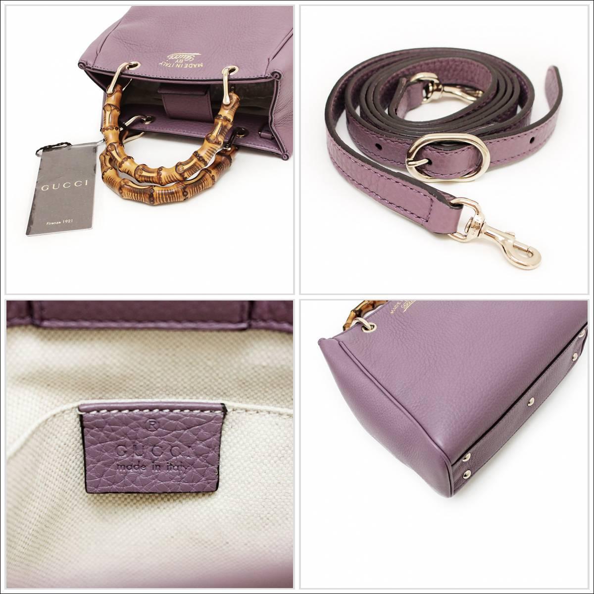 f9134ce98 ... Gucci bamboo shopper mini-steering wheel bag 368823 purple system