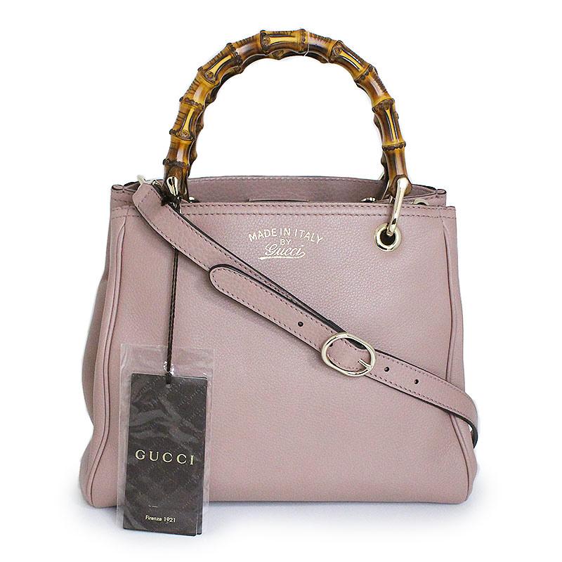 d6fa4c8d0b46f8 BrandCity  Gucci bamboo shopper Small 2WAY tote bag 336032 pink ...