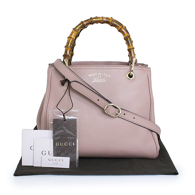1bacab34a012 BrandCity: Gucci bamboo shopper Small 2WAY tote bag 336032 pink ...